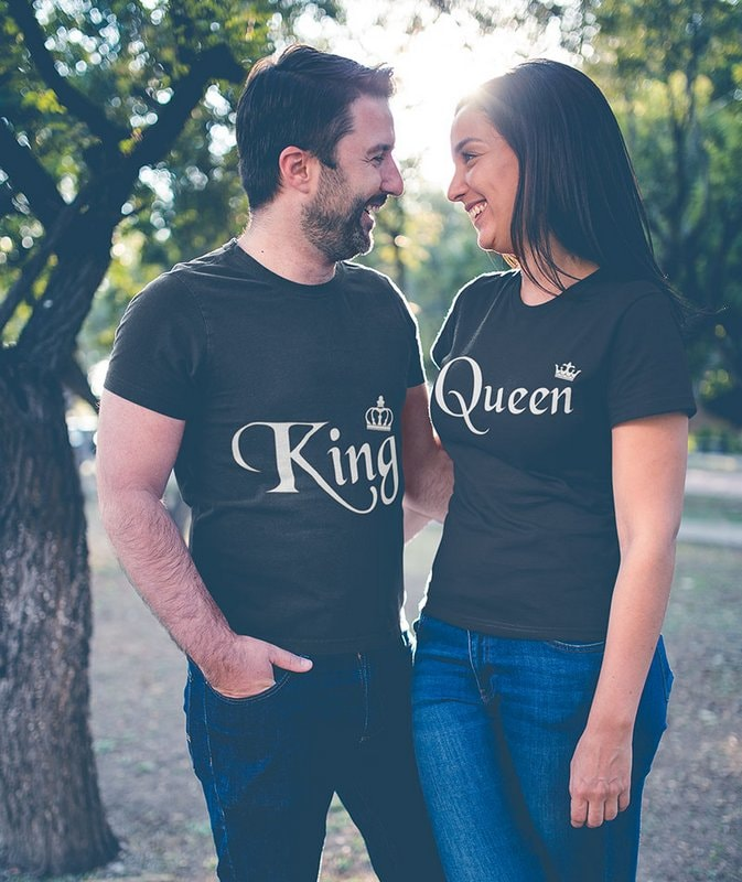 King Queen Black Couple T Shirts min Home Page