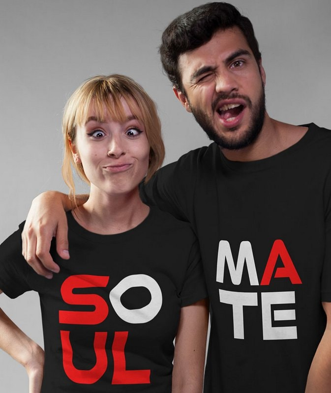 Soul Mate Black Couple T Shirts min Home Page
