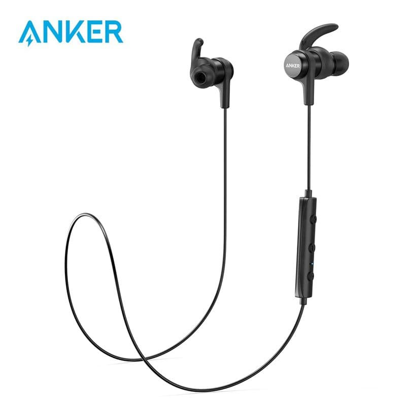 Anker SoundBuds Slim Wireless Workout Headphones Sports Water Resistant Nano Coating 1 min Home Page