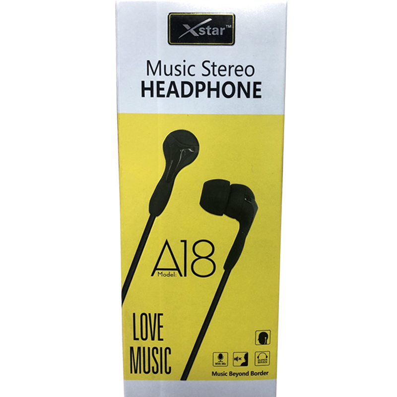 XSTAR EARPHONE A18 Home Page